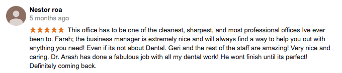 Mint Dentistry Reviews, Dr. Molayem Reviews & Patient Testimonials